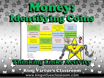 Money: Identifying Coins Thinking Links Activity #2 - Quar