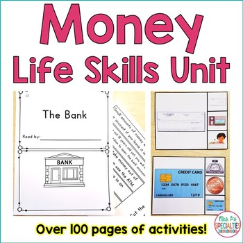 Money Life Skills Unit (Special Education & Autism Resource)