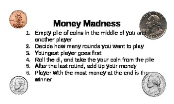 Money Madness: A Money Math Game