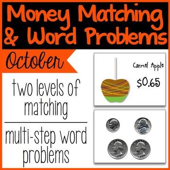 Money Matching & Word Problems {October & Halloween}