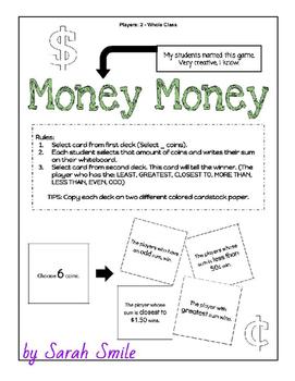 Money Money (Card Game/Center) (2.MD.8)