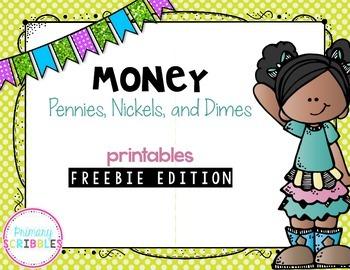 Money (Pennies, Nickels, and Dimes) Printables FREEBIE EDITION