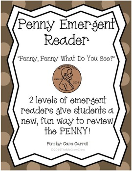 "Money Penny Emergent Reader ""Penny, Penny What Do You See?"" Set"
