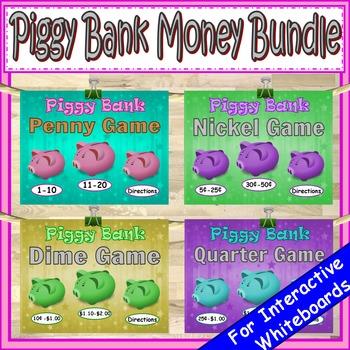 Money Penny, Nickel, Dime, Quarter PowerPoint Game Bundle