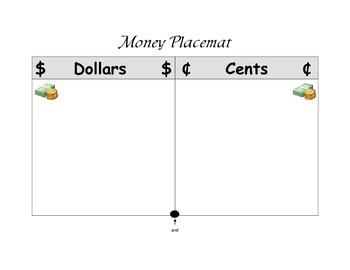 Money Place Mat