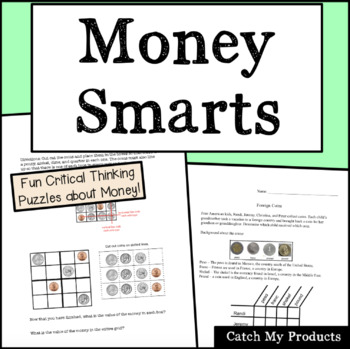 Money Puzzle Package to Engage Gifted and Talented or Brig