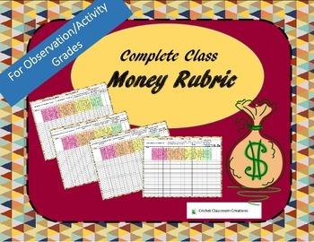 Money Rubric: Record Student Understanding of Money Easily