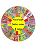 Money Spinner Games (Australian notes and coins)