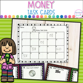 Money Task Cards- Counting and Identifying Coins