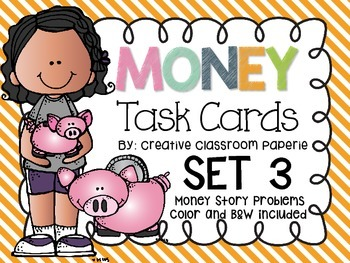 Money Task Cards Story Problems
