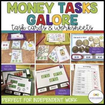 Money Tasks Galore Bundle: Task Cards & Worksheets (Early