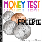 FREE Money TEST- Coin Counting and Adding Practice / Assessment