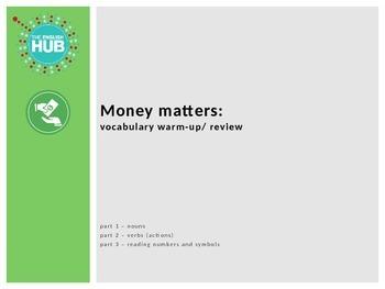 Money Vocabulary Review