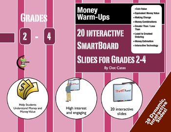 Money Warm-Ups: 20 Interactive SmartBoard Activities for G