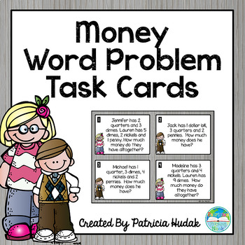Money Word Problem Task Cards: Mixed Review