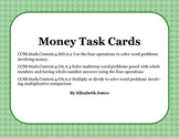 Money Word Problem Task Cards - Common Core