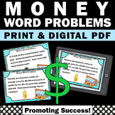 Money Word Problems Task Cards for 5th Grade Common Core Math