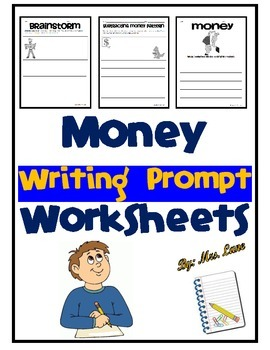 Money Writing Prompt Worksheets