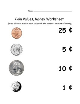 Money, math, addition, coin value, values Worksheet