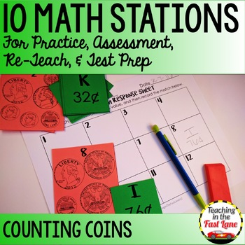 Money to a Dollar Math Stations