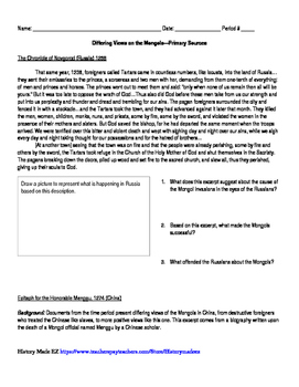 Mongols Primary Sources