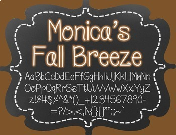 Monica's Fall Breeze {Font for Personal and Commercial Use}