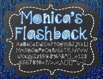 Monica's Flashback {Font for Personal and Commercial Use}