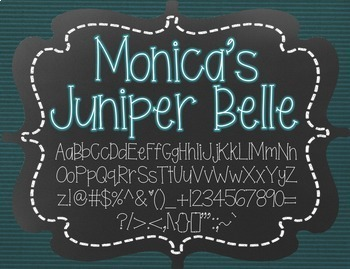 Monica's Juniper Belle {Font for Personal and Commercial Use}
