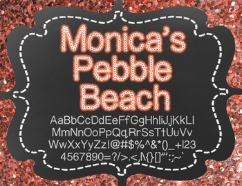 Monica's Pebble Beach {Font for Personal and Commercial Use}