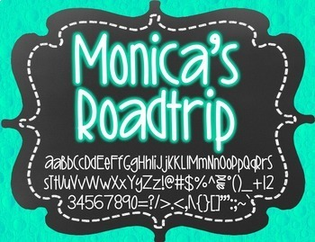 Monica's Roadtrip {Font for Personal and Commercial Use}