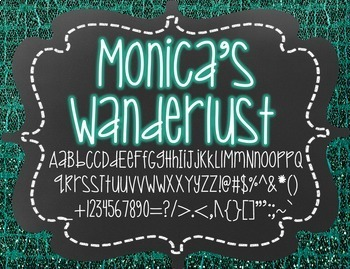 Monica's Wanderlust {Font for Personal and Commercial Use}