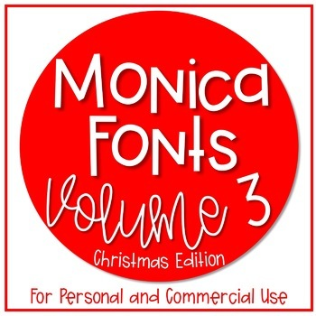 Monica's Fonts - Set #3 {5 Christmas Fonts for Personal &