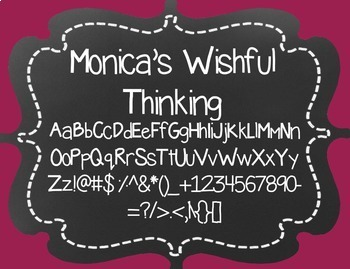 Monica's Wishful Thinking {Font for Personal and Commercial Use}
