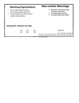 Monitoring Behavior Form