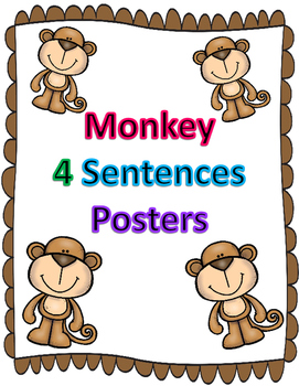 Monkey 4 sentence types posters