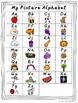 Monkey Alphabet Posters - Primary Polka Dot - D'Nealian Ma