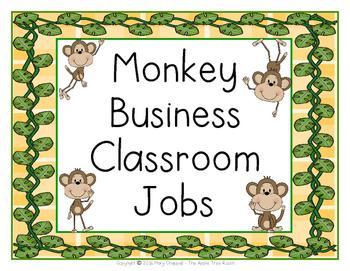 Classroom Jobs {Editable} Monkey Business