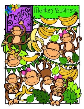 Monkey Business {Creative Clips Digital Clipart}