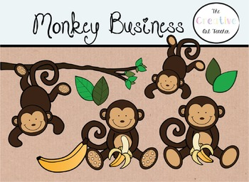 Monkey Business - Digital Clipart
