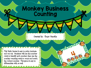 Monkey Business Number Cards and Counting