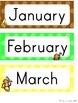 Monkey Calendar Set - Polka Dot