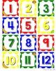 Monkey Calendar Set - Primary Polka Dot