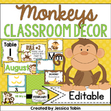 Classroom Decor- Monkeys
