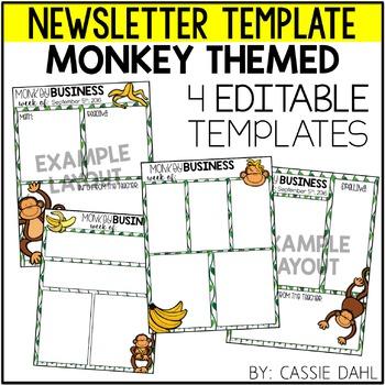 Monkey Classroom Newsletter