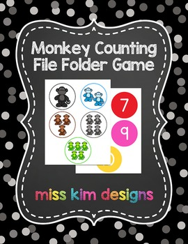 Monkey Counting File Folder Game for students with Autism