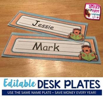 Nameplates Monkey Business *EDITABLE VERSION*