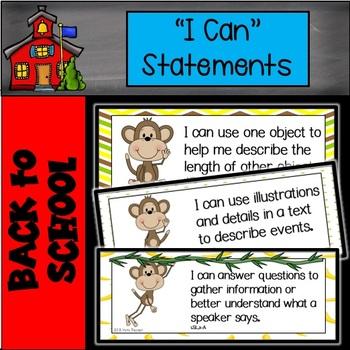 "Monkey ""I Can"" Statements"
