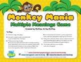 Monkey Mania: Multiple Meaning Words Game