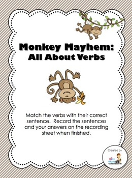 Monkey Mayhem - All About Verbs