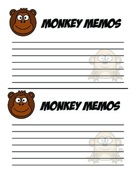 Monkey Memo Notes - Notes To Parents